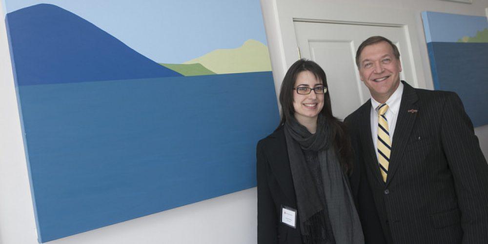 Victoria Febrer receives Stony Brook University's  Presidential Art Award
