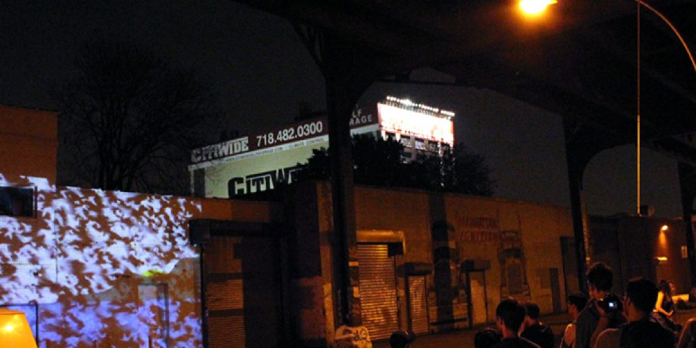 &#8220;Flight of Memory&#8221; by Victoria Febrer and Pedro J. Padilla shown as part of <i>Under the Subway Video Art Night</i>