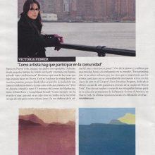 Victoria Febrer en la revista del Periódico de Catalunya